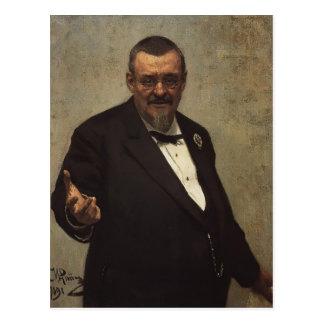 Cartão Postal Retrato de Ilya Repin- do advogado Vladimir