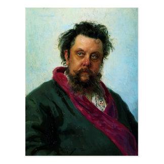 Cartão Postal Retrato de Ilya Repin- do compositor Musorgsky