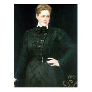 Cartão Postal Retrato de Ilya Repin- do condessa Sophia Panina