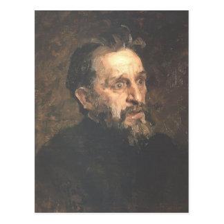 Cartão Postal Retrato de Ilya Repin- do pintor Grigory