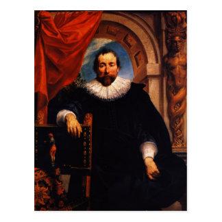 Cartão Postal Retrato de Jacob Jordaens- do Rogier Witer