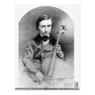 Cartão Postal Retrato de Jacques Offenbach 1850