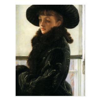 Cartão Postal Retrato de James Tissot- de Kathleen Newton