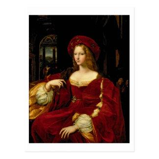 Cartão Postal Retrato de Jeanne da esposa de Aragon (c.1500-77)
