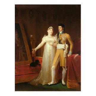 Cartão Postal Retrato de Jerome Bonaparte e sua esposa