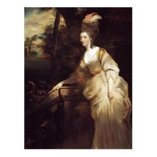 Cartão Postal Retrato de Joshua Reynolds de Georgiana