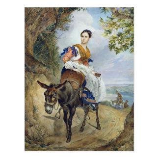 Cartão Postal Retrato de Karl Bryullov- de O.P. Ferzen