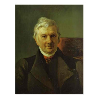 Cartão Postal Retrato de Karl Bryullov- do professor