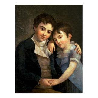 Cartão Postal Retrato de Karl Thomas e de Franz Xaver