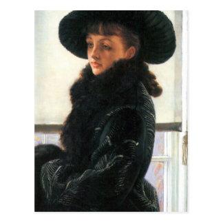 Cartão Postal Retrato de Kathleen Newton por James Tissot