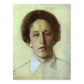 Cartão Postal Retrato de Konstantin Somov- de Aleksandr Blok