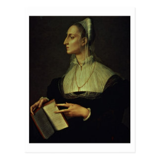 Cartão Postal Retrato de Laura Battiferri, c.1555-60 (painel)