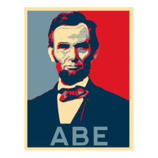 Cartão Postal Retrato de Lincoln do estilo da esperança