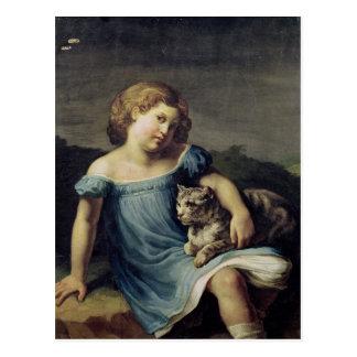 Cartão Postal Retrato de Louise Vernet como uma criança, 1818-19
