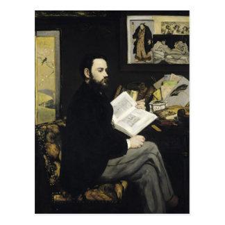 Cartão Postal Retrato de Manet | de Emile Zola 1868