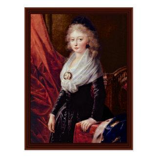 Cartão Postal Retrato de Marie Thérèse De Bourbon