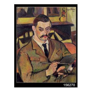 Cartão Postal Retrato de Maurice Utrillo 1921