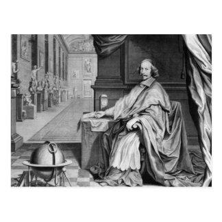 Cartão Postal Retrato de Mazarin cardinal em seu palácio