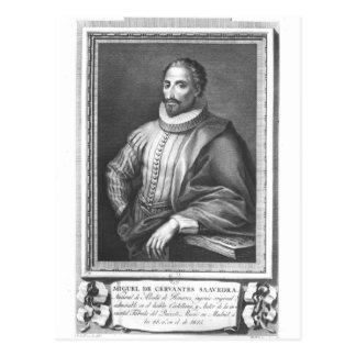 Cartão Postal Retrato de Miguel de Cervantes Saavedra