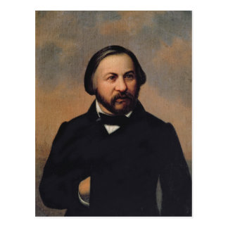 Cartão Postal Retrato de Mikhail Ivanovich Glinka, 1850s