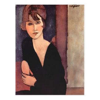 Cartão Postal Retrato de Modigliani da senhora Reynouard