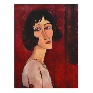 Cartão Postal Retrato de Modigliani de Magherita