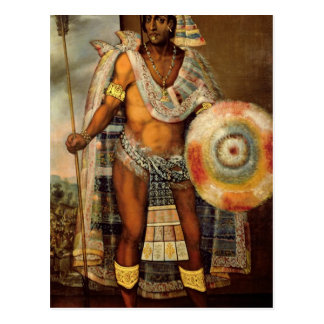 Cartão Postal Retrato de Montezuma II