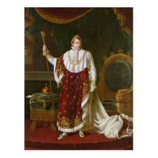 Cartão Postal Retrato de Napoleon em suas vestes da coroação