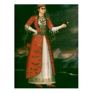 Cartão Postal Retrato de Nino Eristavi, iraniano, 1829