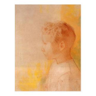 Cartão Postal Retrato de Odilon Redon- do filho de Robert de