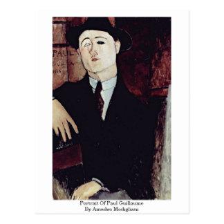 Cartão Postal Retrato de Paul Guilherme por Amedeo Modigliani