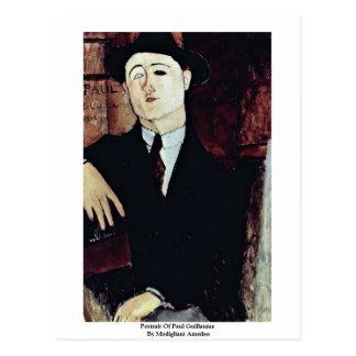 Cartão Postal Retrato de Paul Guilherme por Modigliani Amedeo