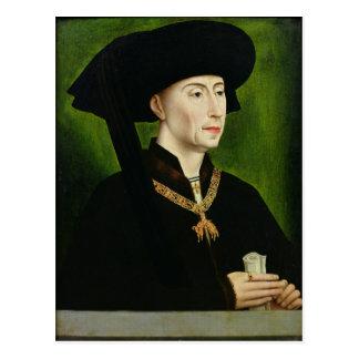 Cartão Postal Retrato de Philippe le Bon Duc de Bourgogne