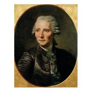 Cartão Postal Retrato de Pierre Agostinho Caron de