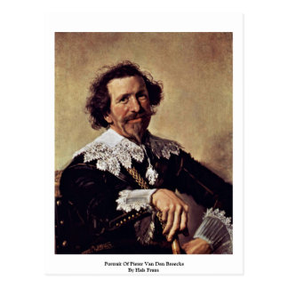 Cartão Postal Retrato de Pieter Van Antro Broecke por Hals Frans