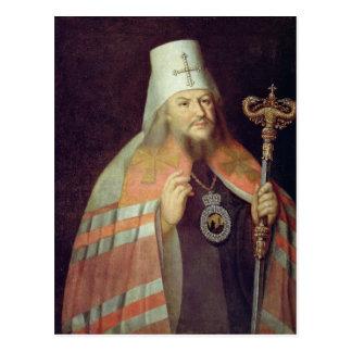 Cartão Postal Retrato de Plato II, metropolita de Moscovo