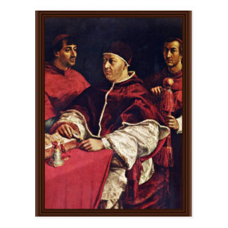 Cartão Postal Retrato de primos do papa Leo X Com Seu por