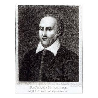 Cartão Postal Retrato de Richard Burbadge