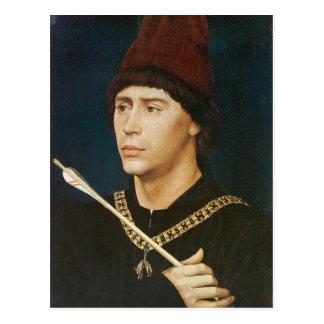 Cartão Postal Retrato de Rogier Weyden- de Antoine