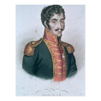 Cartão Postal Retrato de Simon Bolivar