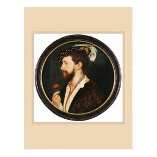 Cartão Postal Retrato de Simon George por Hans Holbein mais novo