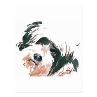 Cartão Postal Retrato de Terrier tibetano