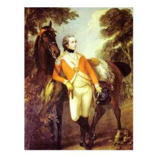 Cartão Postal Retrato de Thomas Gainsborough- de St. Leger de