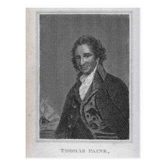 Cartão Postal Retrato de Thomas Paine do volume mim