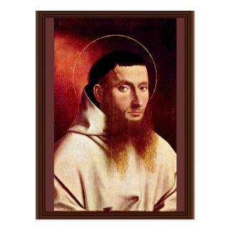 Cartão Postal Retrato de um cartuxo por Christus Petrus