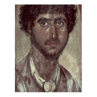 Cartão Postal Retrato de um grego, de Fayum, Romano-Egípcio,
