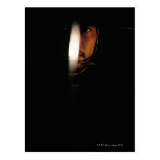 Cartão Postal Retrato de um guerreiro 5 do samurai