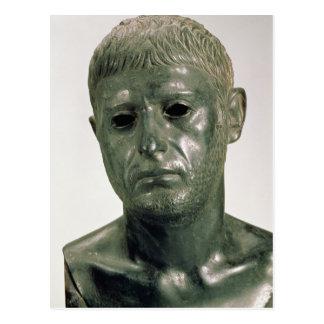 Cartão Postal Retrato de um guerreiro romano desconhecido,