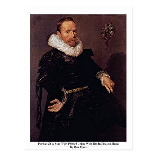 Cartão Postal Retrato de um homem com colar plissado