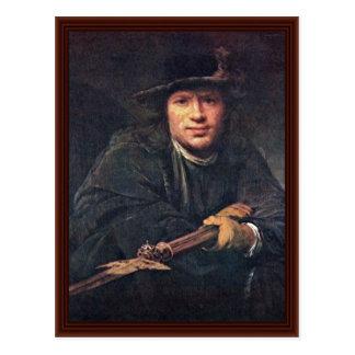 Cartão Postal Retrato de um homem com um Halberd por Gelder Aert